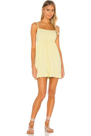 Lovers + Friends Lovers and friends davis mini dress en color amarillo talla L en - Yellow. Talla L (también en XL).