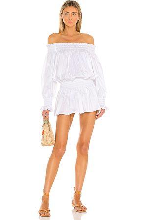 Norma Kamali Vestido peasant en color talla M en - White. Talla M (también en XXS, XS, S, L).