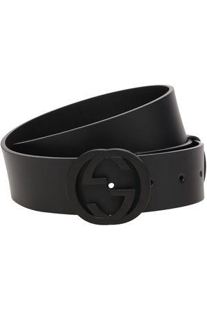 Gucci Hombre Cinturones - Cinturón De Piel Con Hebilla Gg 37mm