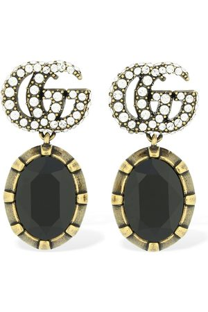 "Gucci Mujer Aretes - Pendientes ""gg Marmont"" Con Cristales"