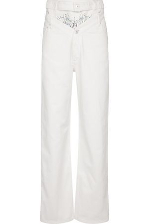 Y / PROJECT Mujer Rectos - Embellished high-rise straight jeans