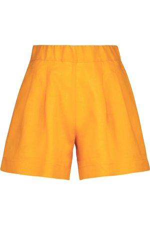 ASCENO The Zurich linen shorts