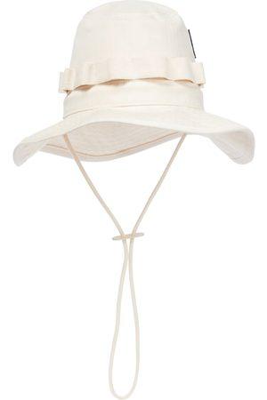 Jil Sander Mujer Sombreros - Cotton herringbone bucket hat