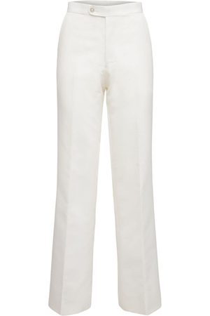 JUNYA WATANABE Pantalones De Sarga De Nylon Con Cintura Alta