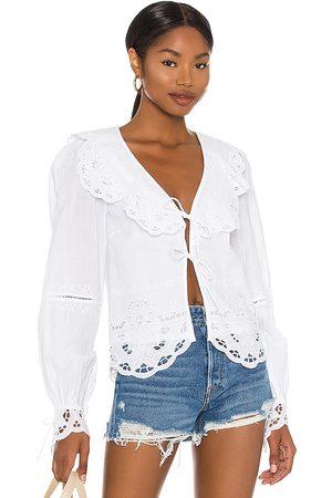 Tularosa Mujer Tops - Colleen top en color talla L en - White. Talla L (también en XXS, XS, S, M, XL).