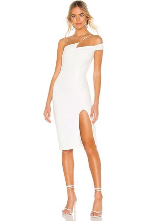superdown Mujer Asimétricos - Vestido a media pierna asimétrico jillian en color talla S en - White. Talla S (también en XXS, XS).