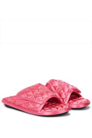 Balenciaga Mujer Planas - Home quilted satin slides