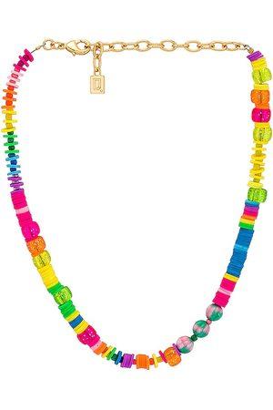 Dannijo Collar bahama en color pink,metallic gold talla all en - Pink,Metallic Gold. Talla all.
