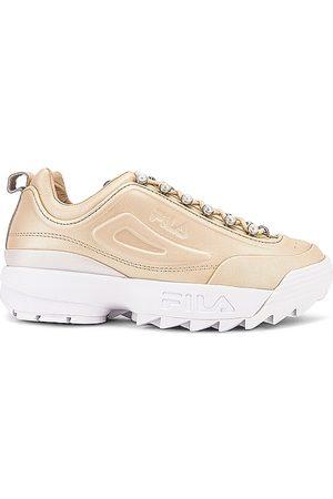 Fila Mujer Tops - Zapatilla deportiva disruptor zero pearl en color oro metálico talla 10 en Effervescent Effervescent & White - Metallic Gold. Talla 10 (tam