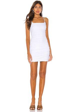 superdown Mujer Cortos - Minivestido fruncido lisa en color talla L en - White. Talla L (también en XS).
