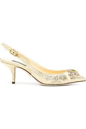 Dolce & Gabbana Zapatillas en jacquard con detalles