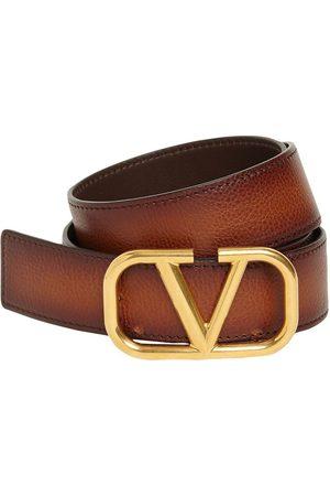 """VALENTINO GARAVANI Hombre Cinturones - Cinturón De Piel Con Hebilla """"v"""" 3.5cm"""