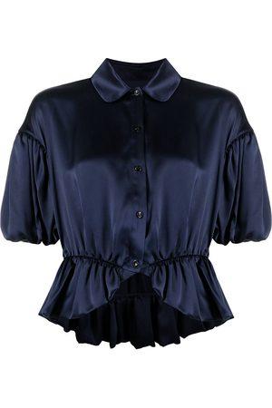 Simone Rocha Mujer Camisas - Camisa con ribete de volantes