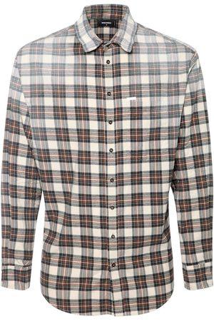 Dsquared2 Hombre Camisas - Camisa De Franela De Algodón A Cuadros
