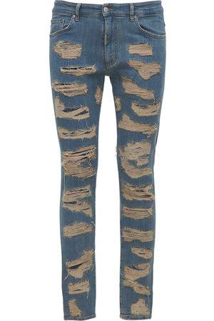 Represent Hombre Skinny - Jeans Skinny Desgastados De Denim