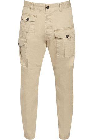 """Dsquared2 Hombre Cargo - Pantalones Cargo """"sexy"""" De Algodón Stretch 16cm"""