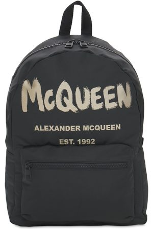 """Alexander McQueen Mochila """"new Mcqueenn Graffiti"""" De Nylon"""