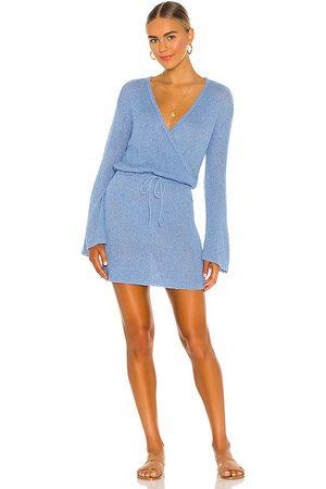 L*Space Vestido topanga en color azul talla L en - Blue. Talla L (también en S, XS, M).