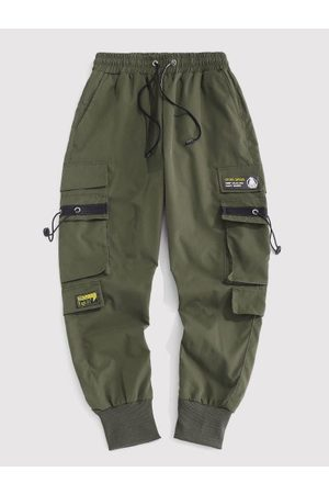 Zaful Letter Patched Cargo Pants