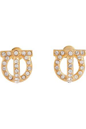 Salvatore Ferragamo Mujer Aretes - Gancini crystal-embellished earrings