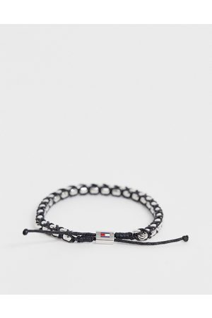 Tommy Hilfiger Woven bracelet in silver and black