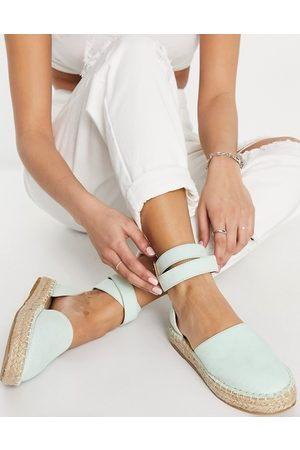 Truffle Collection Mujer Alpargatas - Two part espadrille shoes in sage