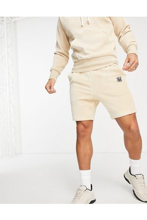 SikSilk Allure corduory shorts in