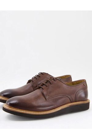 Base London Draco derby shoes in brown leather
