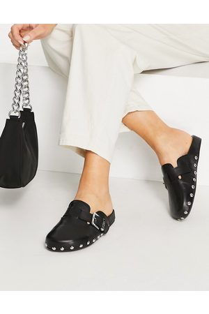 ASRA Mujer Zuecos - Fenton studded clog in black leather