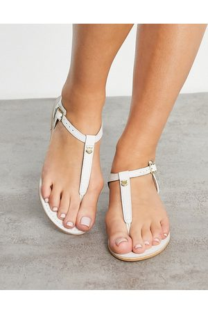 Accessorize T bar sandal in white leather