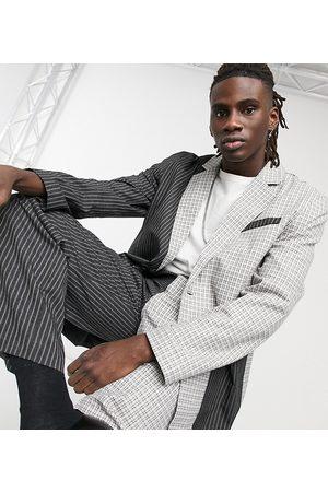 Reclaimed Vintage Inspired check and stripe blazer