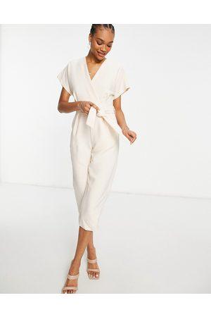 Closet Wrap waist kimono sleeve jumpsuit in