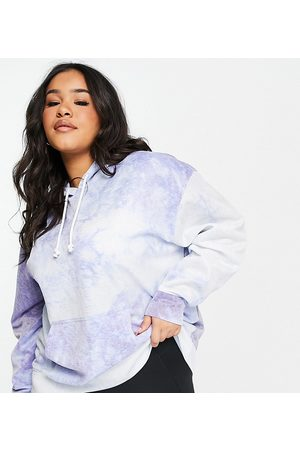 Nike Mujer Con capucha - Plus Icon Clash tie dye hoodie in blue