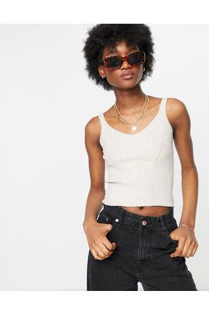Monki Mujer Tops - Ofelia knitted vest in off white