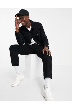 ASOS DESIGN Regular western denim jacket in black