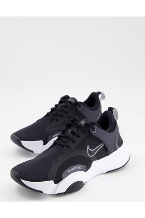 Nike Mujer Tenis - SuperRep Go 2 trainers in black with white