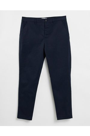 ASOS Hombre Chinos - Tapered chinos in navy