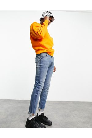 ASOS Hombre Skinny - Skinny jeans in mid wash blue