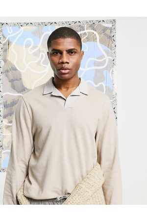 ASOS Hombre Polos - Smart pique polo with contrast revere collar in