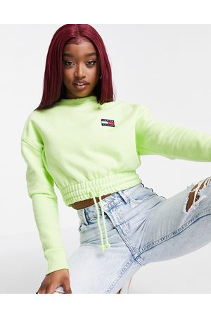 Tommy Hilfiger Mujer Con capucha - Cropped logo sweatshirt in green