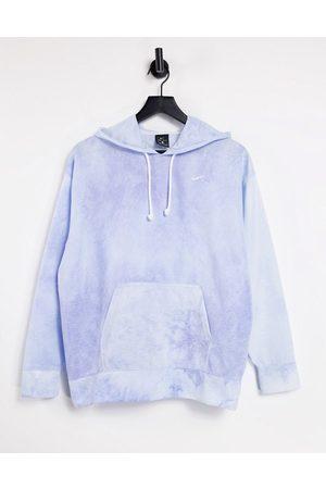 Nike Icon Clash tie dye hoodie in blue