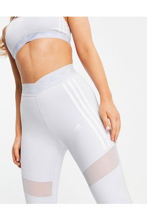 adidas Mujer Leggings - Adidas Training 3 stripe leggings in baby blue