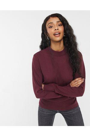 Monki Mujer Suéteres cerrados - Ambidextra knit jumper in wine red