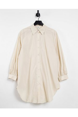 Object Longline shirt in cream