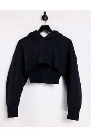 Reebok X Cardi B super cropped hoodie in black