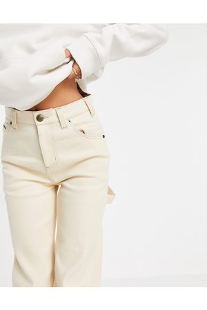Dickies Ellendale carpenter trousers in ecru