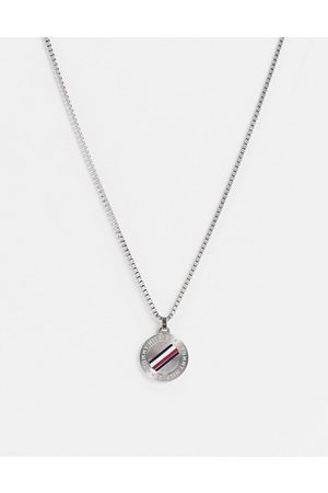 Tommy Hilfiger Hombre Collares - Neckchain in silver with circular dog tag