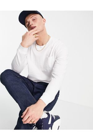 JACK & JONES Originals oversize long sleeve top in white