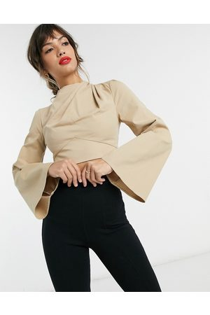 ASOS Long sleeve top in cotton twill co ord