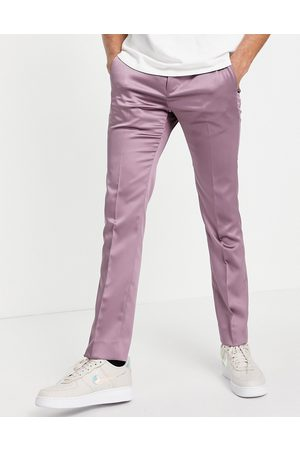 Twisted Tailor Hombre Pantalones y Leggings - Suit trousers in mauve satin